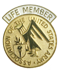 Life Member Pin and AUSA Emblem (A409)