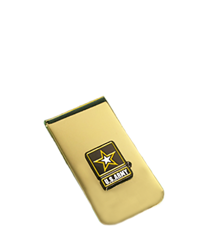 Army Money Clip - Gold