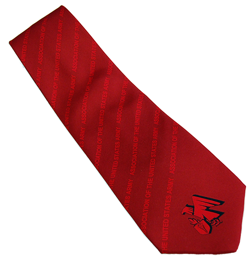 Red Tie with AUSA Emblem
