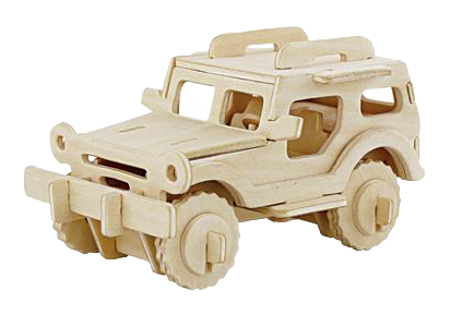 3D Wooden Puzzle - SUV/Jeep