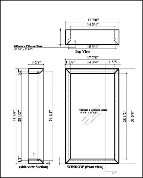 Sauna Window 18 x 32 Specifications