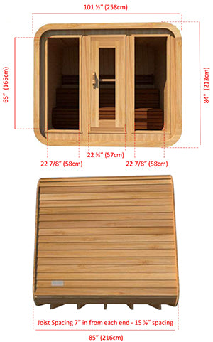 Superior Sauna Luna Outdoor Sauna 8 x 7