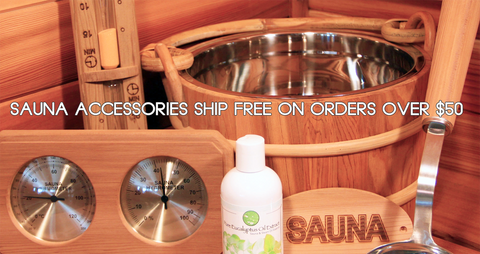 Sauna Accessories Ship Free on Orders Over $50