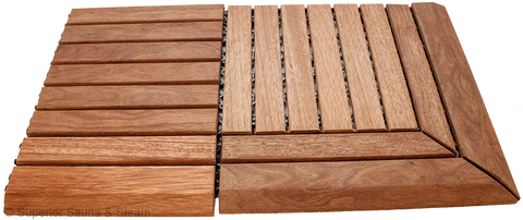 Hardwood Sauna Floor Tile