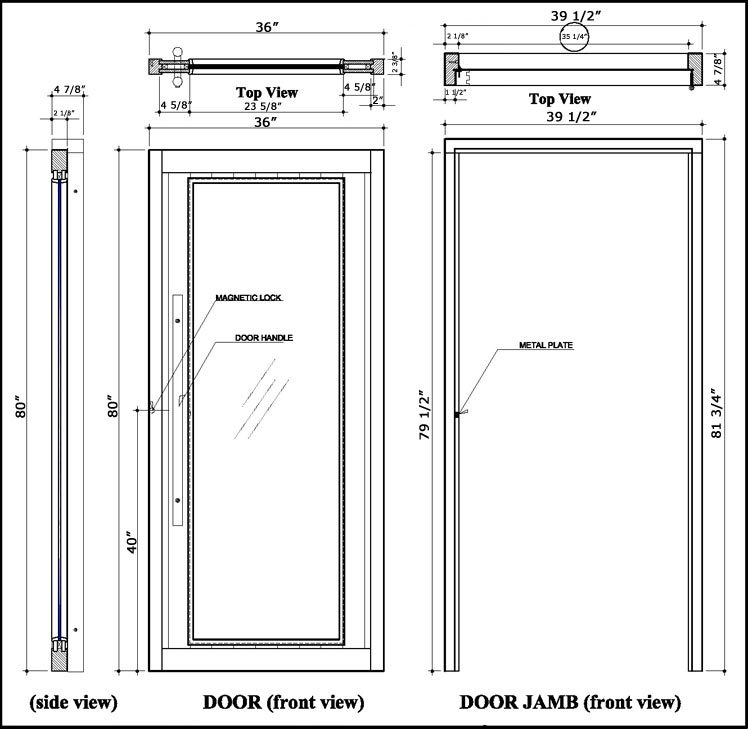 Superior Sauna ADA Full Glass Door Specifications