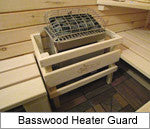 Superior Sauna Basswood Heater Guard