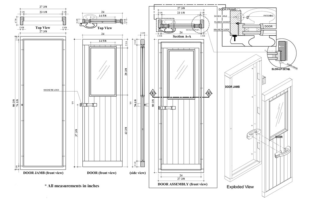Superior Sauna Half Glass Door Specifications