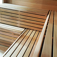 Superior Sauna Luna Outdoor Sauna Benches