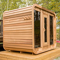 Superior Sauna Luna Outdoor Sauna Clear Cedar