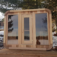 Superior Sauna Luna Outdoor Sauna Tempered Glass