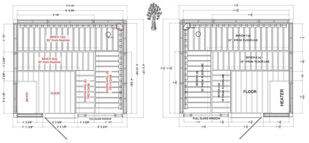 Supeiror Sauna 6 Person Modular Sauna Specifications