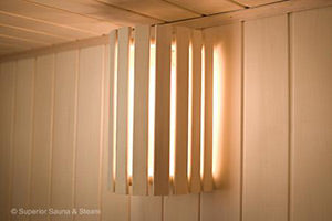 Included wall light and compact shade
