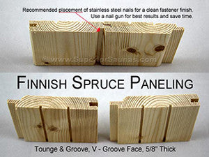 Superior Sauna Nordic Spruce Tongue and Groove Example