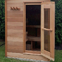 Superior Sauna Outdoor Cabin Sauna Glass Door