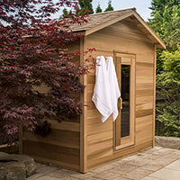 Superior Sauna Outdoor Cabin Sauna Solid Wood