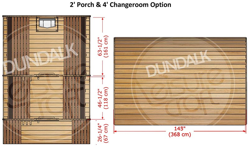 Superior Sauna Pod 8 x 6 Interior Specifications