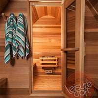 Superior Sauna Pod Outdoor Sauna Clear Cedar
