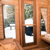Superior Sauna Pod Outdoor Sauna Windows