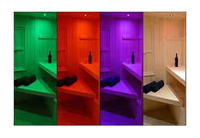 Sauna Chrome Color LED Recessed Light Kit (Optional Add On)