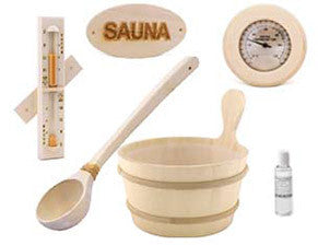 Included Aspen Sauna Accessory Kit