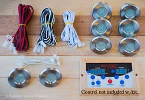 Recessed Sauna Lighting Kit for Sauna Logic Control (Optional Add On)