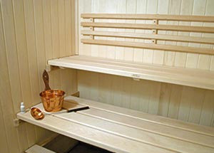 Custom Basswood Sauna Bench