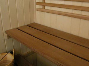 Custom Red Cedar Sauna Bench