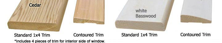 Sauna Window Trim Option