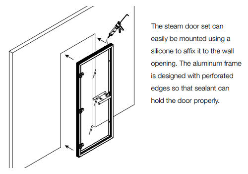 Superior Sauna Frosted Steam Door Installation