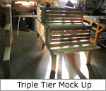 Superior Sauna Triple Tier Bench Mock Up