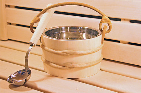 Aspen 1.8 Gallon SS Bucket and Ladle - Superior Saunas