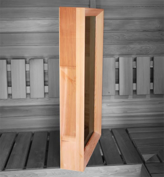 Superior Saunas: Window - Cedar Sauna Window 18 x 32 Clear