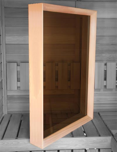 Superior Saunas: Window - Cedar Sauna Window 26 x 38 Bronze