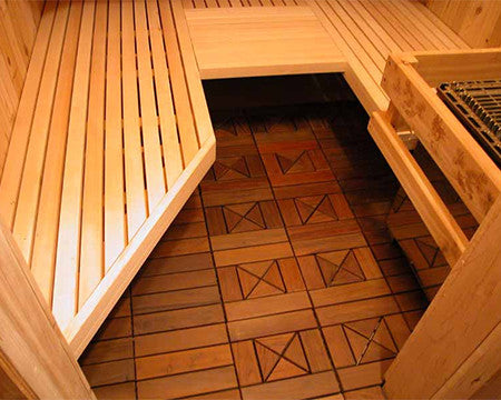 Ipe Wood Sauna Floor Tile Superior Saunas