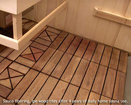 Superior Saunas: Sauna Flooring - Ipe Wood Sauna Floor Tile