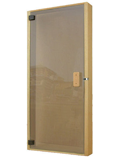 "Superior Saunas: Sauna Door - All Glass Panel Door Bronze Glass ADA Compatible 36"" x 80"""