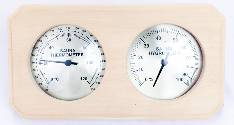 Superior Saunas: Thermometer - Aspen Thermometer and Hygrometer
