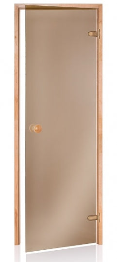 "All Glass Frameless Bronze Door 24"" × 72"""