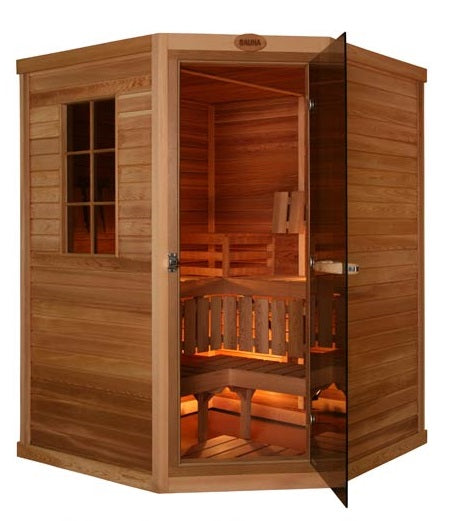 Cedar 3 Person Corner - Superior Saunas
