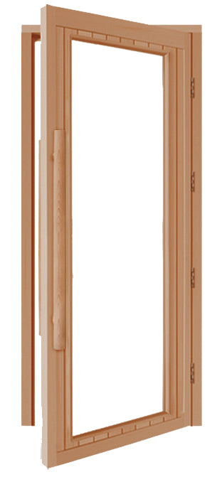 "Superior Saunas: Sauna Door - Cedar Full Clear Glass ADA Door 36"" × 80"""