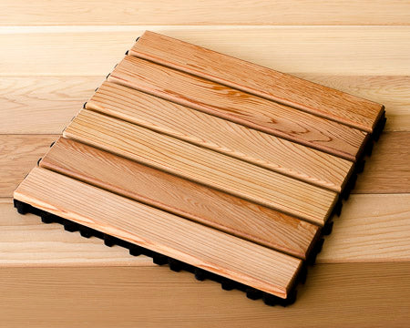 Cedar Flooring Tile Snap Together - Superior Saunas