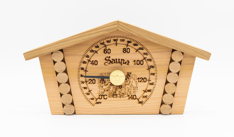 Red Cedar Log House Thermometer - Superior Saunas
