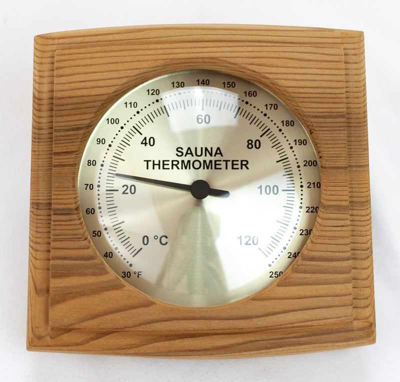 Superior Saunas: Thermometer - Red Cedar Square Thermometer