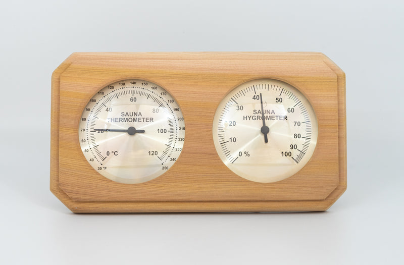 Red Cedar Thermometer and Hygrometer - Superior Saunas