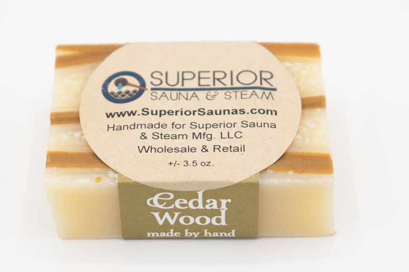 Superior Saunas: Sauna Soap - Cedarwood Handmade Soap
