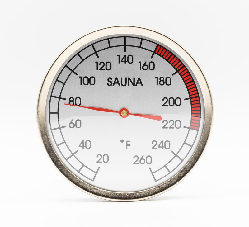Superior Saunas: Thermometer - Chrome Thermometer