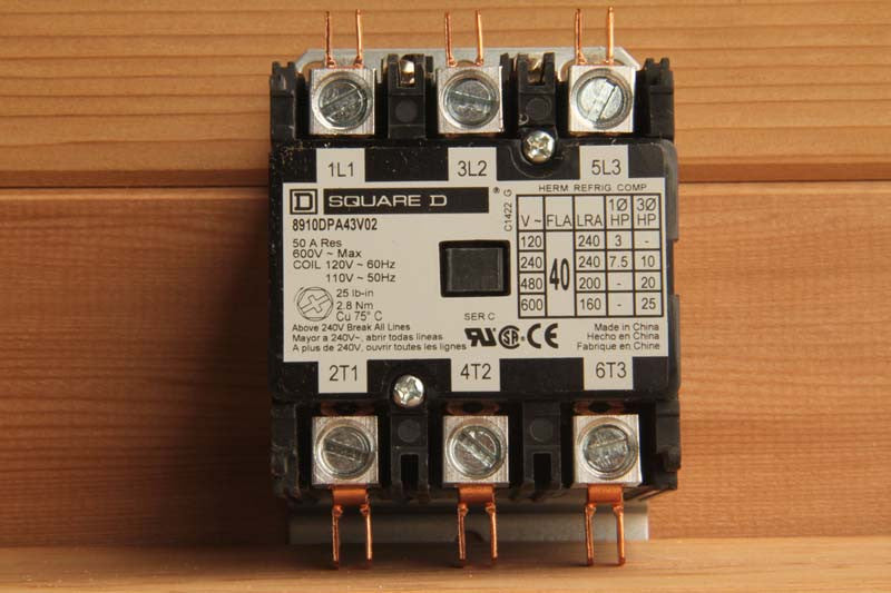 Contactor, 50amp, 3 POLE, for CB 7-3, CB 9-3, 3 Phase