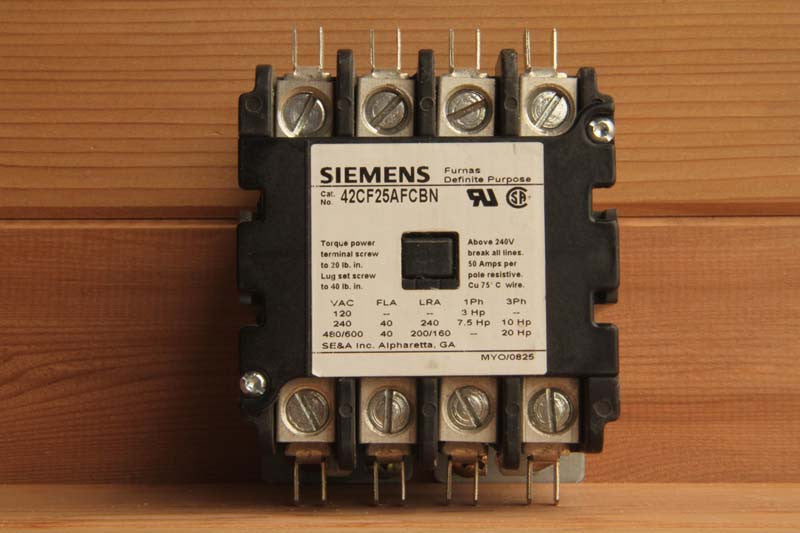 Contactor, 50amp, 4 POLE, for CB 7-1, CB 9-1, 1 Phase