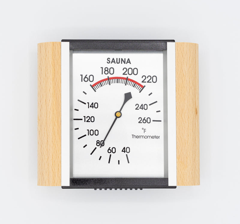 Superior Saunas: Thermometer - Deluxe Aluminum Thermometer