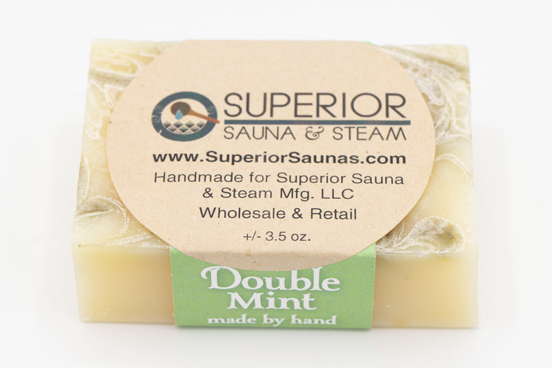 Superior Saunas: Sauna Soap - Double Mint Handmade Soap